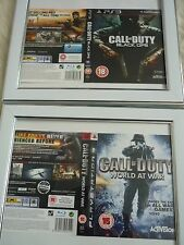Call of duty world at war & Black ops ps3 sleeves Wall mounted Framed