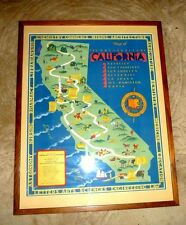 VINTAGE CARTOON MAP UNI OF CALIFORNIA BERKELEY LA JOLLA GOLDEN GATE EXPO  1939