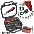 100 Pce Screwdriver Bits Socket Set & Rechargeable Cordless Electric Driver Tool