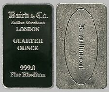 1 x 1/4 oz Rhodium bar - Baird and Co 0.999