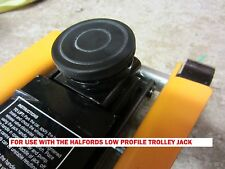 Rubber pad jacking pad adapter for HALFORDS LOW PROFILE hydraulic Trolley jack