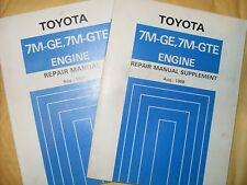 Toyota 7M-GE, &M-GTE Engine Repair Manual & Supplement 1987-88 - As Photo
