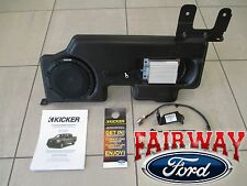 "15 thru 16 F-150 OEM Ford Kicker Audio 8"" Sub Speaker & 100w Amp Upgrade Kit NEW"