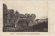 SEGNI - PORTA SARACENA NELLE MURA CICLOPICHE (ROMA) 1904