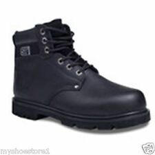 MENS GENTS WORK BOOTS LEATHER SAFETY STEEL TOE CAP TRAINER HIKING OIL RESISTANT