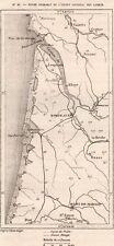 IMAGE 1887 PRINT CARTE MAP ANCIEN LITTORAL DES LANDES BORDEAUX ARCACHON DAX