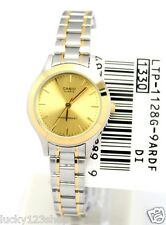 LTP-1128G-9A Casio White tone Stainless Steel Watch Ladies Date