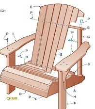 Adirondack chair detailed building plan schematic PDF