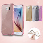 New ! Bling Glitter Silicone Slim Clear Case Cover For Samsung Galaxy Phones