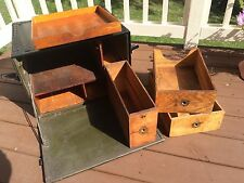 WWII Army Field Desk with Drawers USA 1940's Beals & Selkirk