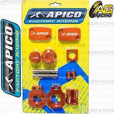 Apico Bling Pack Orange Blocks Cap Plugs Clamp Cover For KTM EXC/F 250 2014-2015