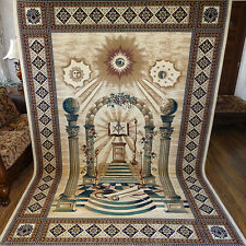 "MASONIC Area RUG 6'6""x9'6"" Carpet Apron Lodge Bible Freemason Mason Ring Templar"
