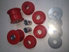 Nissan 200SX S13/S14 Skyline R32/R33 Subframe Duraflex Bushes in Red