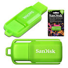 NEW 8GB Sandisk Cruzer Switch USB 2.0 Flash Drive Green Memory Stick Pen Retail
