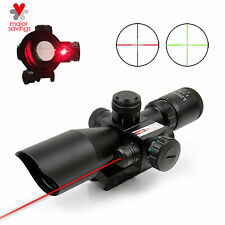2.5-10x40EG Tactical Rifle Scope Mil Dot Dual illuminated Laser w/Free Mount