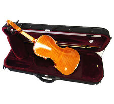 New 4/4 Beautiful Flamed Back Violin+ Octagon Bow+Oblong Shape Case+String Set