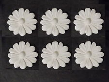 SIX DAISYS DECORATIVE MOULDINGS FOR FURNITURE MIRRORS FIRE PLACES WHITE