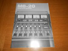 TEAC MB-20 OPERATION MANUAL , ORIGINAL