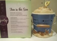 NIB Scentsy Fun in the Sun Warmer discontinued Beach sand bucket pail W/Free Bar