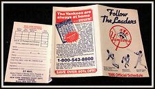 NEW YORK YANKEES 1986 YANKEE MAGAZINE BASEBALL POCKET SCHEDULE FREE SHIPPING
