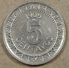 1905 Mexico 5 Centavos Lightly Cleaned AU+