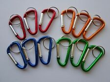 Lot 12 Carabiner Clips ~ Spring Belt Snap Key Chain ~ Aluminum ~ Free Shipping**