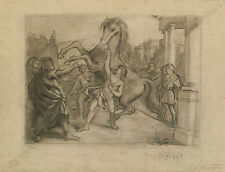 "Robert Scheffer (1859-1934) ""Historical Scene"", Drawing, Late 19th Century"