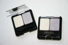 REVLON eyeshadow 05 DUO Frosty WHITE violet LIGHT long lasting wet or dry