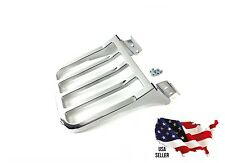 CHROME HARLEY LUGGAGE RACK DYNA SISSY BAR STREET BOB SWITCHBACK LOW RIDER 2006++