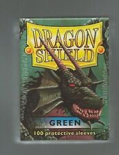 (100) Dragon Shield Green Protective Sleeves Sealed Magic MTG FREE SHIPPING