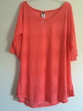 O'Neill Women's Swim Cover Up - Coral - Size: Medium / Large