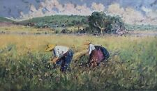 """""""Working the fields by Salamanca"""" by Spanish Artist Pedro Fraile Sanchez - 1995"""
