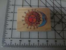 Laurel Burch Sister Sun, Brother Moon  All Night Media wood mounted rubber stamp