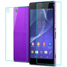Premium Tempered Glass 2.5D Screen Protector Guard For Sony Xperia Z1 Front Back