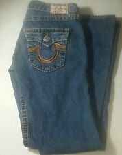 True Religion Jeans Size 29 Woman Flare Metal Logo Buttons  Stitched Designs
