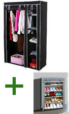 Folding Wardrobe Cupboard Almirah-IV + Shoe Rack 4 Layers Combo