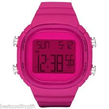 NEW-ADIDAS SEOUL PINK/FUCHSIA POLYURETHANE+DIGITAL CHRONOGRAPH WATCH-ADH2075