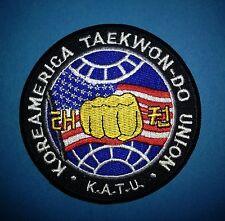Koreamerica Taekwondo Union K.A.T.U. Martial Arts Jacket Gi Patch TKD MMA 266