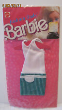 BARBIE FASHION FINDS ~ VINTAGE 1988 ~ GREEN & WHITE STRIPE w/WHITE BODICE ~ NEW