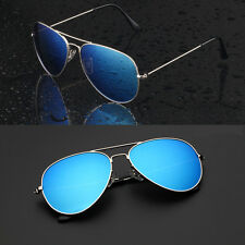 Aviatore Sunglasses Womens Men Eyewear Metal Frame Oversized Fashion Mirror Lens