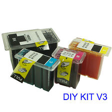 For CANON 240XL 241XL PG-240 CLI-241 ink cartridge refill kit DIY V3 Pre-filled