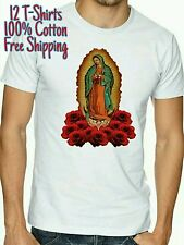 12 T-shirts Virgen de GUADALUPE mary Maria virgin lot wholesale