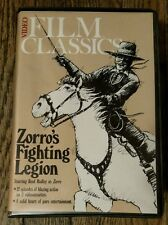 Video Film Classics: Zorro's Fighting Legion 2 Tape Set (VHS, 1984)