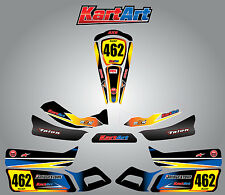Arrow AX9 full custom KART ART sticker kit SUNRISE STYLE / graphics / decals