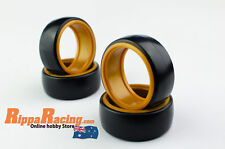 1/10 RC CAR HARD PLASTIC DRIFT ORANGE WALL TYRES  4pcs