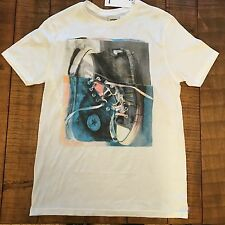 NWT Authentic Men's Converse All Star Hi-Top Short Sleeve Tee White, S