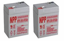 NPP 6V 4.5Ah 5Ah Sealed Lead Acid Battery for Alarms Motorcycles Lights Pack 2