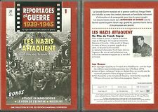 DVD - LES NAZIS ATTAQUENT :WAFFEN SS GUERRE MONDIALE 39 45 HITLER WW2 COMME NEUF