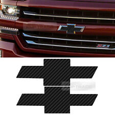 Front Rear Black Carbon Emblem Badge Decal Sticker For CHEVY 2014-2016 Silverado