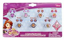 Sofia Day of the Week Pretend Play Ring & Earing Set